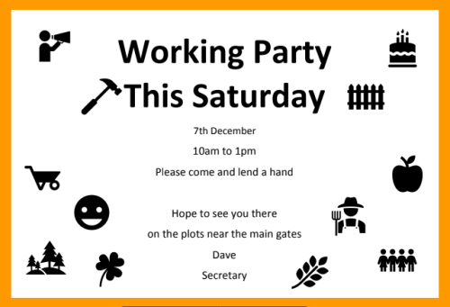 Working Party 7th Dec 2019